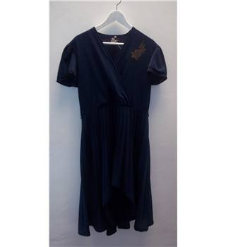 C & A Vintage Size 42 French Navy Blue Dress