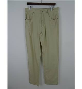 Thomas Burberry Size 34R Honeydew Linen Mix Trousers