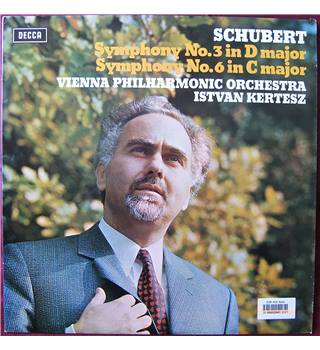 Schubert: Symphony No.3 and Symphony No.6 Vienna Philharmonic Orchestra, Kertesz. - SXL 6553