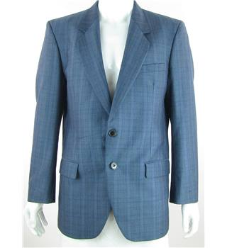 "Primarius - Size: 42"" - Blue Stripe - Wool & Mohair Mix Single breasted Suit Jacket"