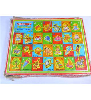"Vintage ""Victory"" Alphabet Play Tray"