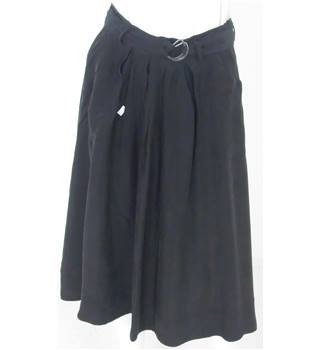 Marks & Spencer Autograph Size 8 Black Knee-Length Skirt