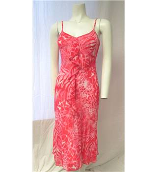 Per Una Size 8 Pink Patterned Dress Per Una - Size: 8 - Pink