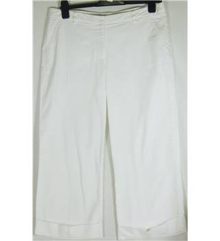 M&S Marks & Spencer - Size: 12 - White - Cargo pants