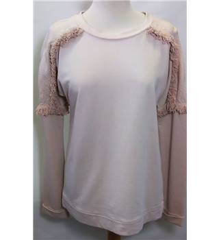 M&S INDIGO COLLECTION size 8 Peach Long Sleeved Top [HALF PRICE]