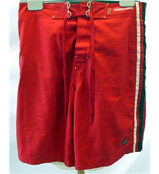 "Rip Curl - Size: Medium/32"" - Red Black & white - Men's Board Shorts"