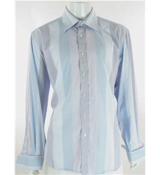 Ted Baker - Size XL - Blue and Purple Striped Cotton Shirt