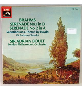 Brahms Serenades Nos.1&2 / Variations on a Theme by Haydn Sir Adrian Boult London Philharmonic Orchestra - SLS5137