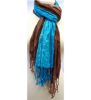 Unbranded - Size: L - Blue tones - 2 x Ladies' Scarves