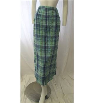 Nightingales Size 14 Blue and Green Check Skirt Nightingales - Size: 14 - Blue