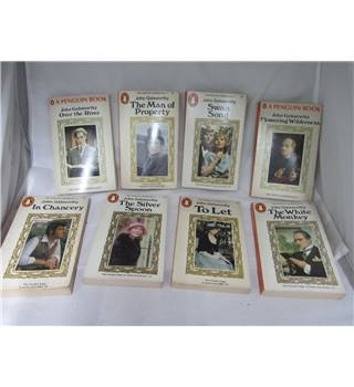 RARE AND COLLECTABLE Set of 9 The Forsytte Cronicles By Penguin books