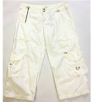 "BNWT MOTO Size 10 Cool White 3QTR Combats moto - Size: 30"" - White - Trousers [50% OFF]"