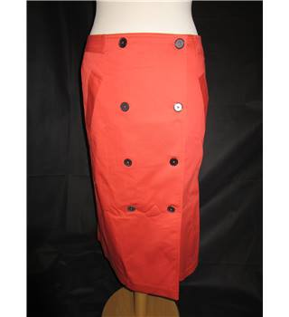 Jaeger - Burnt Orange - Wrap Around Skirt - Wiggle Skirt - Size 10 - BNWOTS