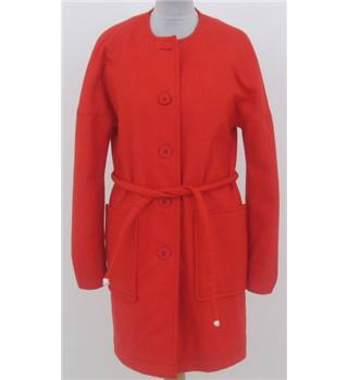 Unbranded size M vibrant orange collarless coat