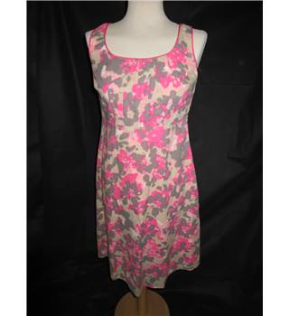 Monsoon - Cotton Summer Dress - Lined - Size 10 UK - Pink and Grey