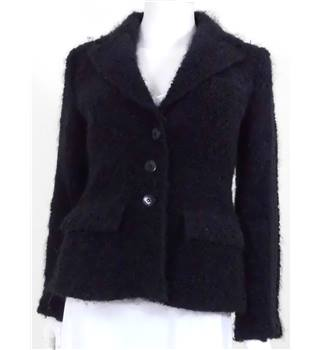 Armani Collezioni Size: 12 Black Smart Textured Jacket