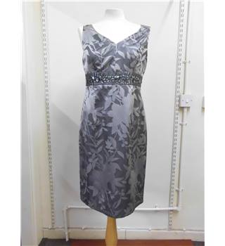 KALIKO silver sleeveless v-neck dress Kaliko - Size: 12 - Metallics