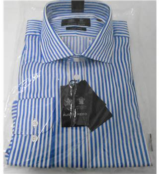 Austin Reed - Blue Striped Shirt - Size 17 Austin Reed - Blue - Long sleeved
