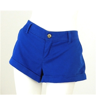 Abercrombie & Fitch Size 8 Vibrant Blue Cotton Short Shorts