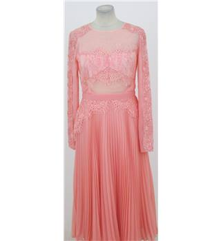 BNWT ASOS Size: 10 peach lace insert occasion dress