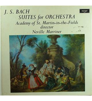 J. S. Bach ‎– Suites For Orchestra Academy Of St. Martin-in-the-Fields, Neville Marriner - ZRG 687-8