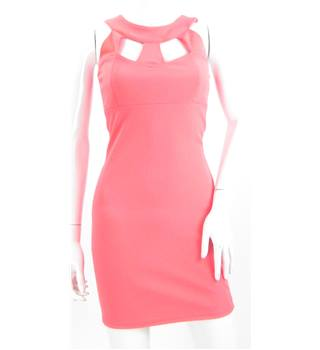 Lipsy - Size: 8 - Pink Cut Out Bodycon Dress
