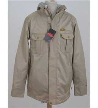 BNWT Nike size: S, tan and cream striped jacket