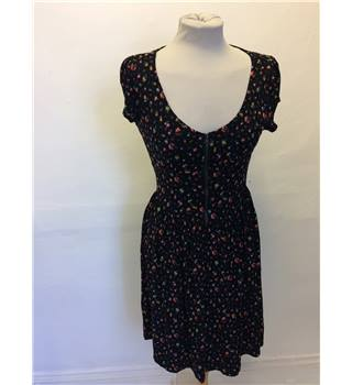 Black Floral Dress Warehouse - Size: 10 - Black - Short
