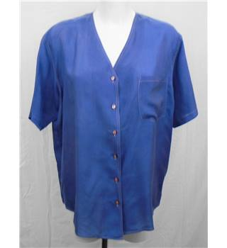 Pure Silk blue shirt Size M/L