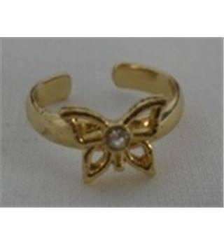Unbranded - Size: 14.68 mm - Gold - Butterfly Ring