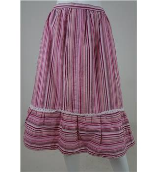 JULIUS Pink Stripe Knee-Length Skirt Size 16