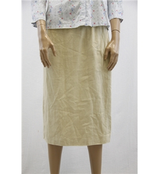 Ralph Lauren Size 12 Beige Linen Pencil Skirt