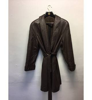 Stunning Bally leather coat - Brown