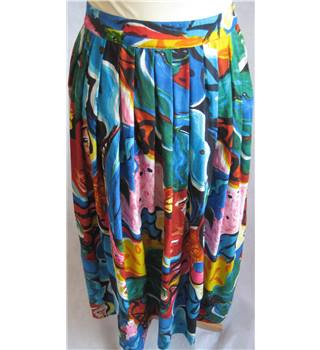Phool wild print midi skirt size S Phool - Size: S - Multi-coloured - Calf length skirt