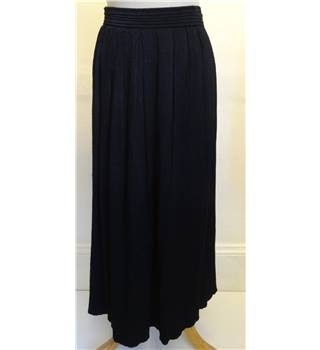 Women's Black Calf length Skirt Steilmann - Size: 18
