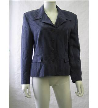 Country Casuals Blue and white striped jacket - Size: 14 - Blue - Jacket