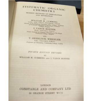 systematic organic chemistry - modern methods of preparation and estimation
