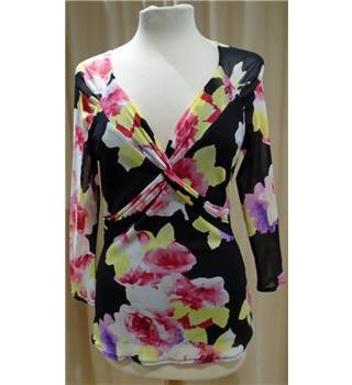 Floral Tulle Top Coast - Size: 10 - Multi-coloured - Blouse