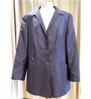 Dark Purple Textured Smart Jacket Gerry Weber - Size: 20 - Purple - Smart jacket / coat