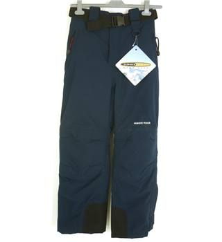 "BNWT White Rock Size: 8, 26.5"" waist, 28"" inside leg Navy Blue Cold/Ski/Snowboarding Thermal Lined Salopettes"