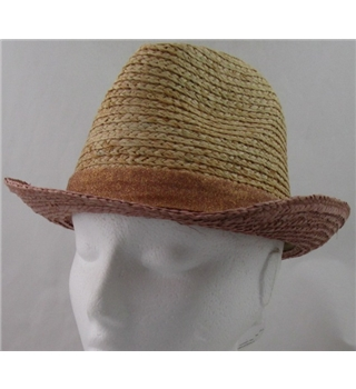 NWOT M&S Kids, age 18-36 months pink mix straw hat