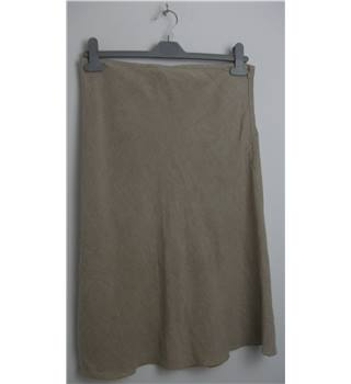 Agnes B Beige Linen Knee-Length Skirt No Size but Waistband Measures 32""