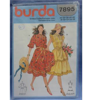 burda 7895 fitted dress pattern