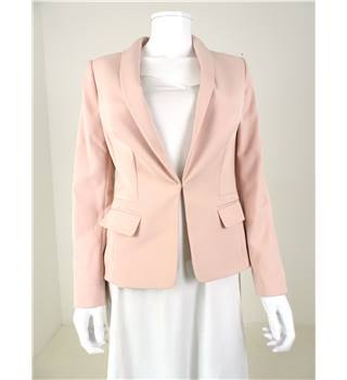 M&S Size 8 Blush Pink Smart Jacket With Stretch