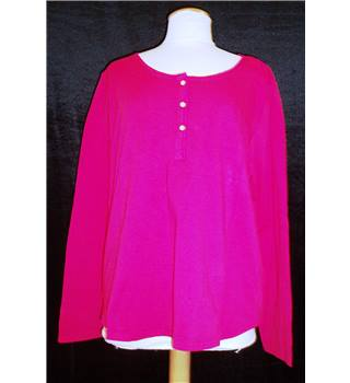 BNWT Dickins and Jones Size XL Fuscia Pink Henley T-Shirt