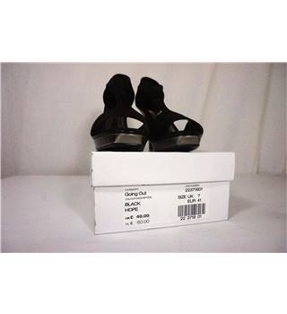 Dorothy Perkins Black High Heel Open Toe Shoes, UK size 7