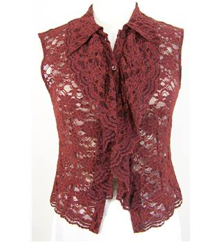 Roberto Verino - Size: 14 -Wine - Sleeveless - Blouse