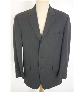 "Calvin Klein Size: Large, 42"" chest, regular fit Graphite Grey Smart/Stylish Pure New Wool Single Breasted Designer Jacket"