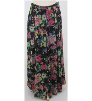 Gok for Tu, size 12 black & pink mix floral patterned trousers