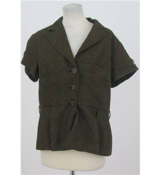 Next, size 16 brown short sleeved jacket